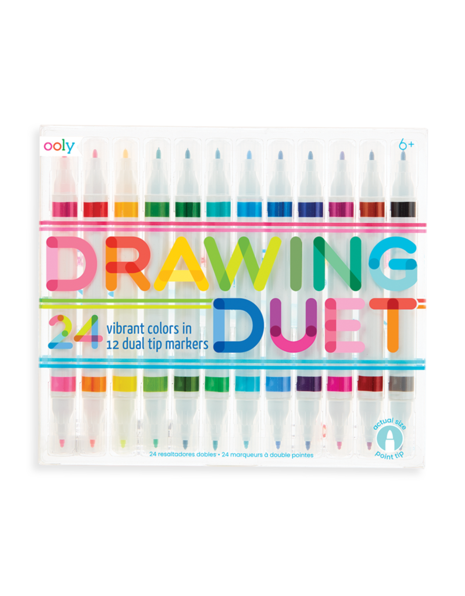 OOLY OOLY DRAWING DUET DOUBLE SIDED MARKER SET