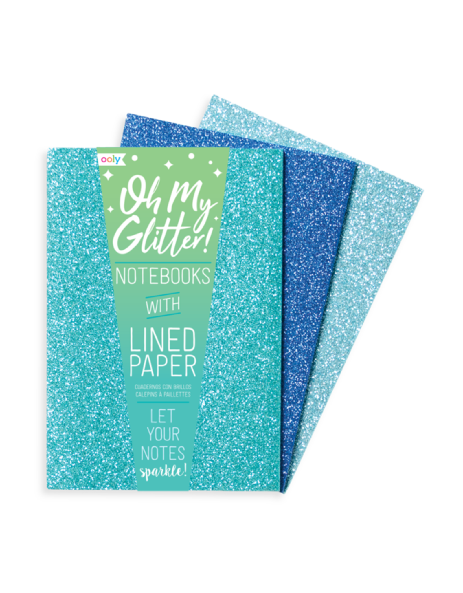 OOLY OOLY GLITTER NOTEBOOKS - BLUE COLLECTION