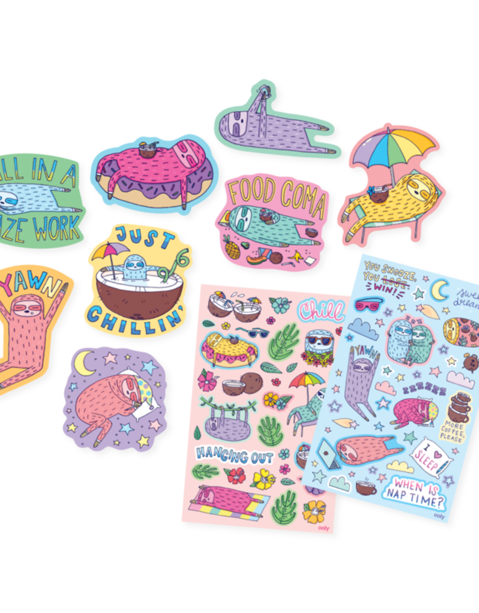 OOLY OOLY SCENTED STICKERS - SLEEPY SLOTHS