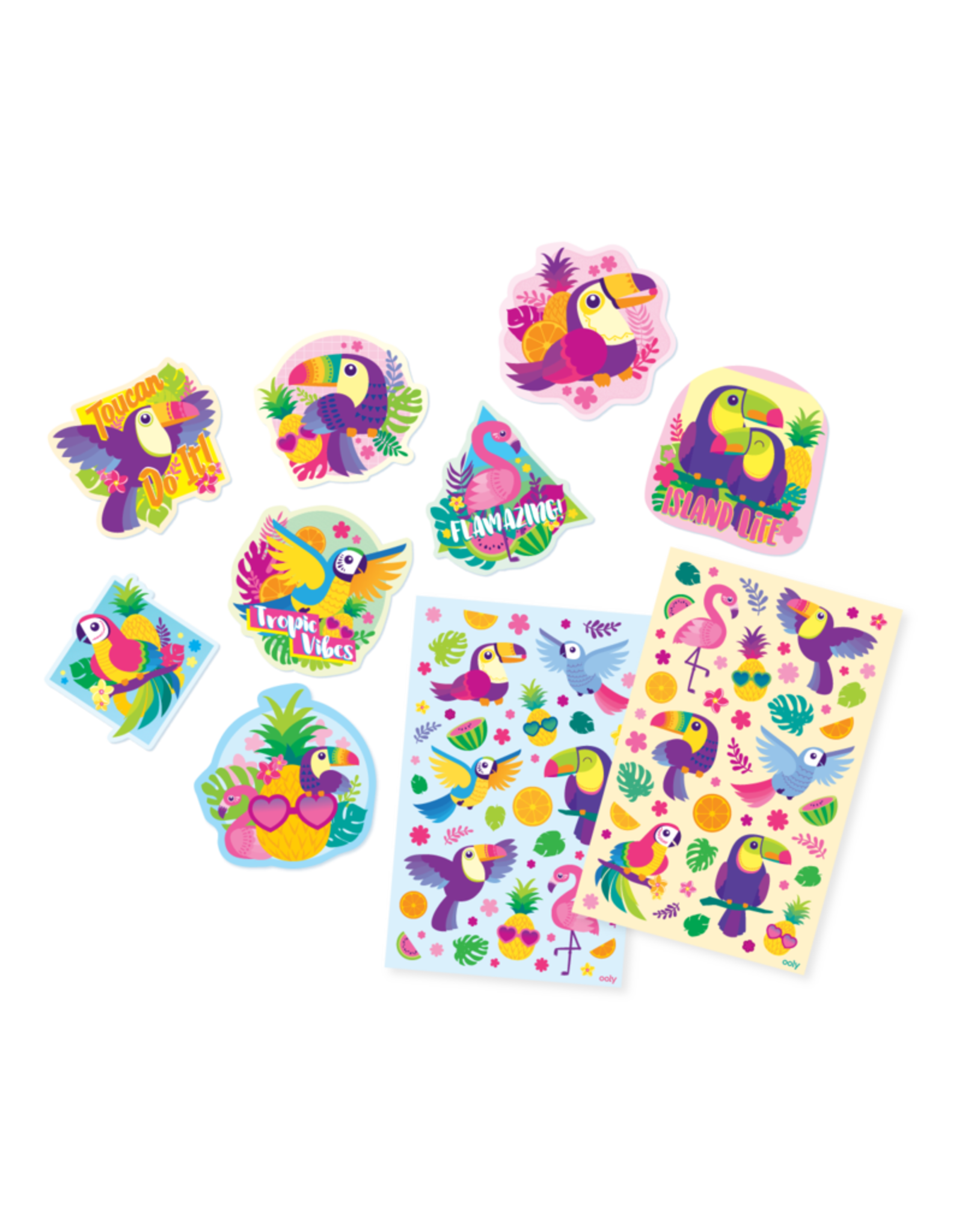 OOLY OOLY SCENTED STICKERS - TROPICAL BIRDS