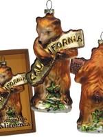 SF MERCANTILE SF MERCANTILE CA BEAR HUG BLOWN GLASS ORNAMENT