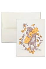 SF MERCANTILE SF MERCANTILE CA BEAR AND POPPIES NOTE CARD