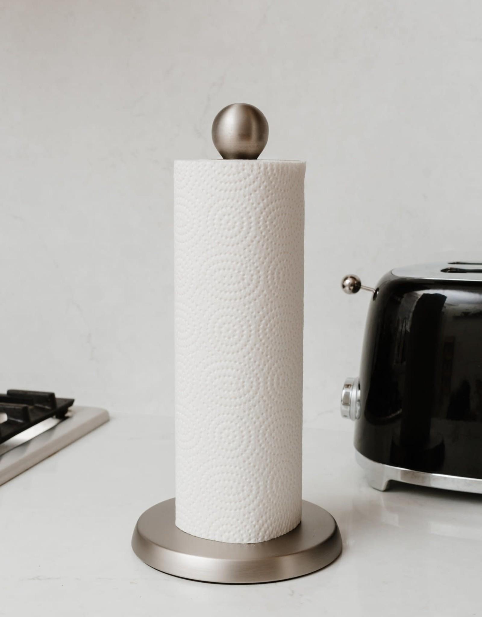 UMBRA UMBRA TEARDROP SATIN NICKEL PAPER TOWEL HOLDER