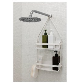 UMBRA UMBRA WHITE FLEX  SHOWER CADDY DOUBLE SHELF