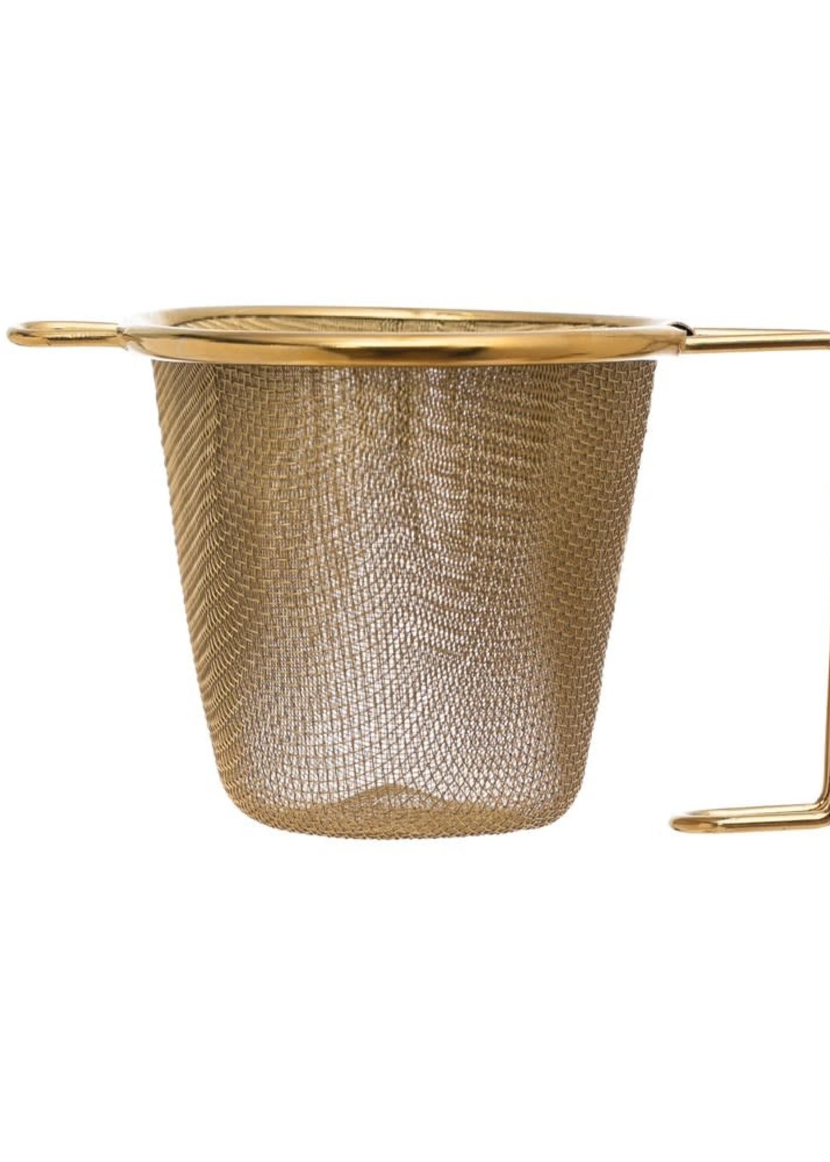 CREATIVE COOP CCOOP GOLD TEA STRAINER