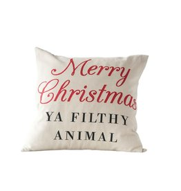 CREATIVE COOP CCOOP MERRY XMAS YA FILTHY ANIMAL PILLOW