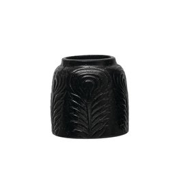 CREATIVE COOP CCOOP SHORT BLACK VASE