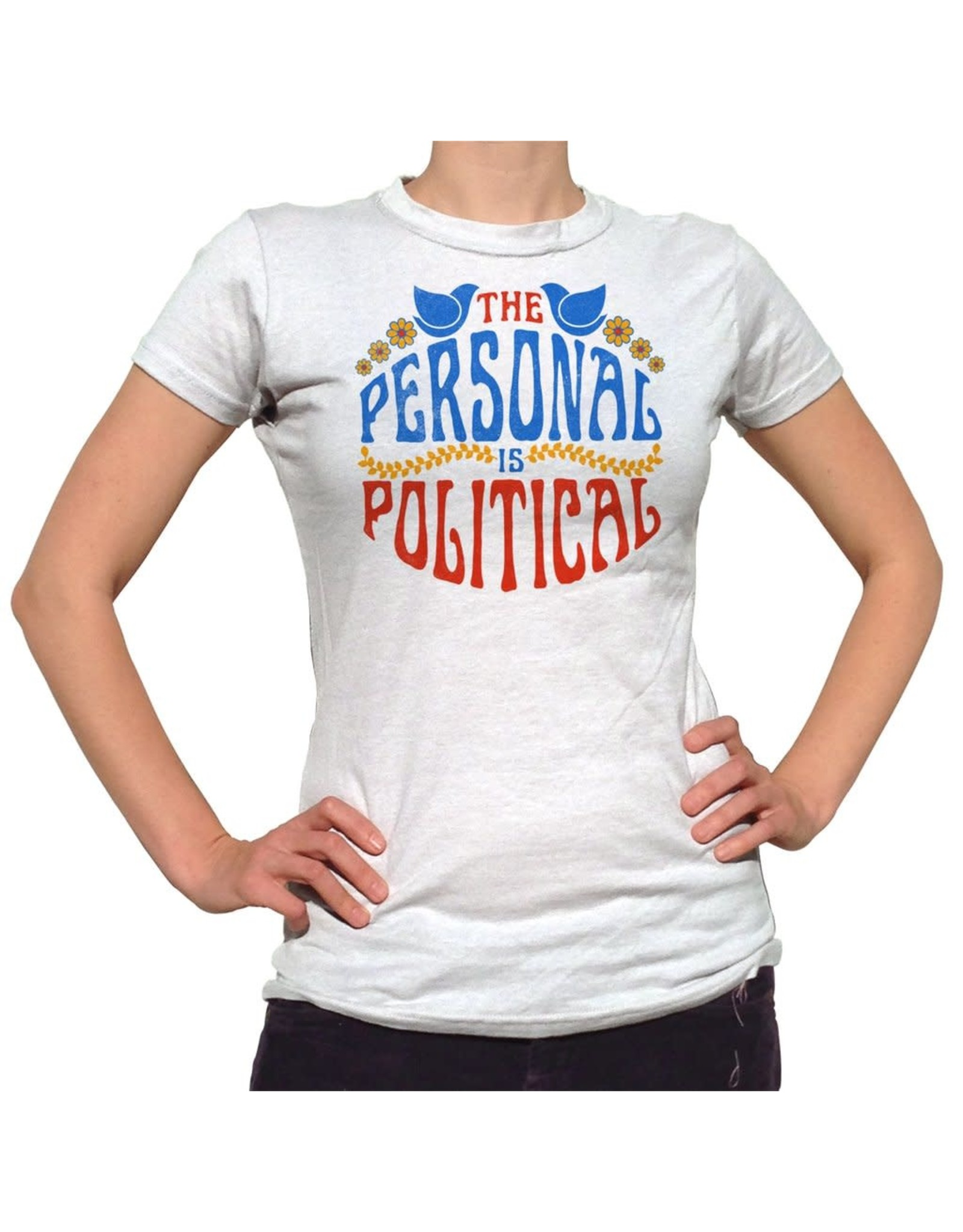 BOREDWALK THE PERSONAL IS POLITICAL T-SHIRT