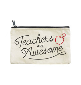 SELTZER SELTZER CANVAS POUCH TEACHERS ARE AWESOME