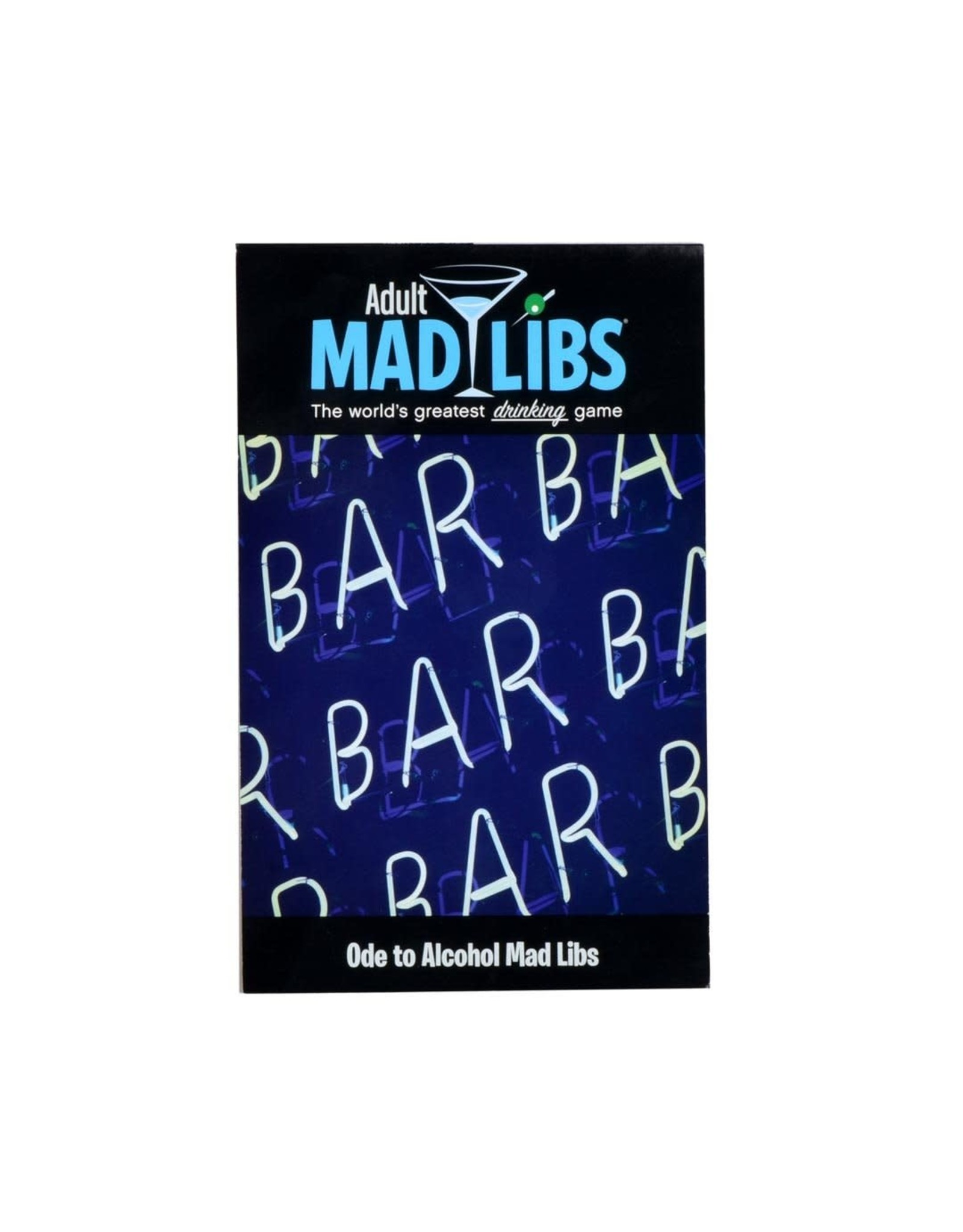 PENGUIN RANDOM HOUSE ADULT MAD LIBS ODE TO ALCOHOL