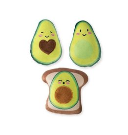 FRINGE FRINGE PET SHOP 3PC AVOCADO DOG TOY
