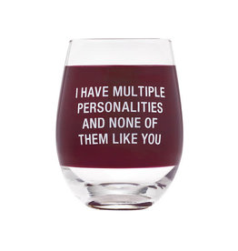 ABOUT FACE ABOUT FACE MULTIPLE PERSONALITIES WINE GLASS