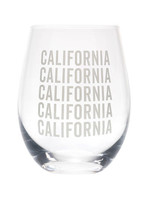ABOUT FACE ABOUT FACE CALIFORNIA WINE GLASS