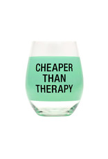 ABOUT FACE ABOUT FACE CHEAPER THAN THERAPY WINE GLASS