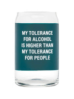ABOUT FACE ABOUT FACE TOLERANCE FOR PEOPLE BEER GLASS