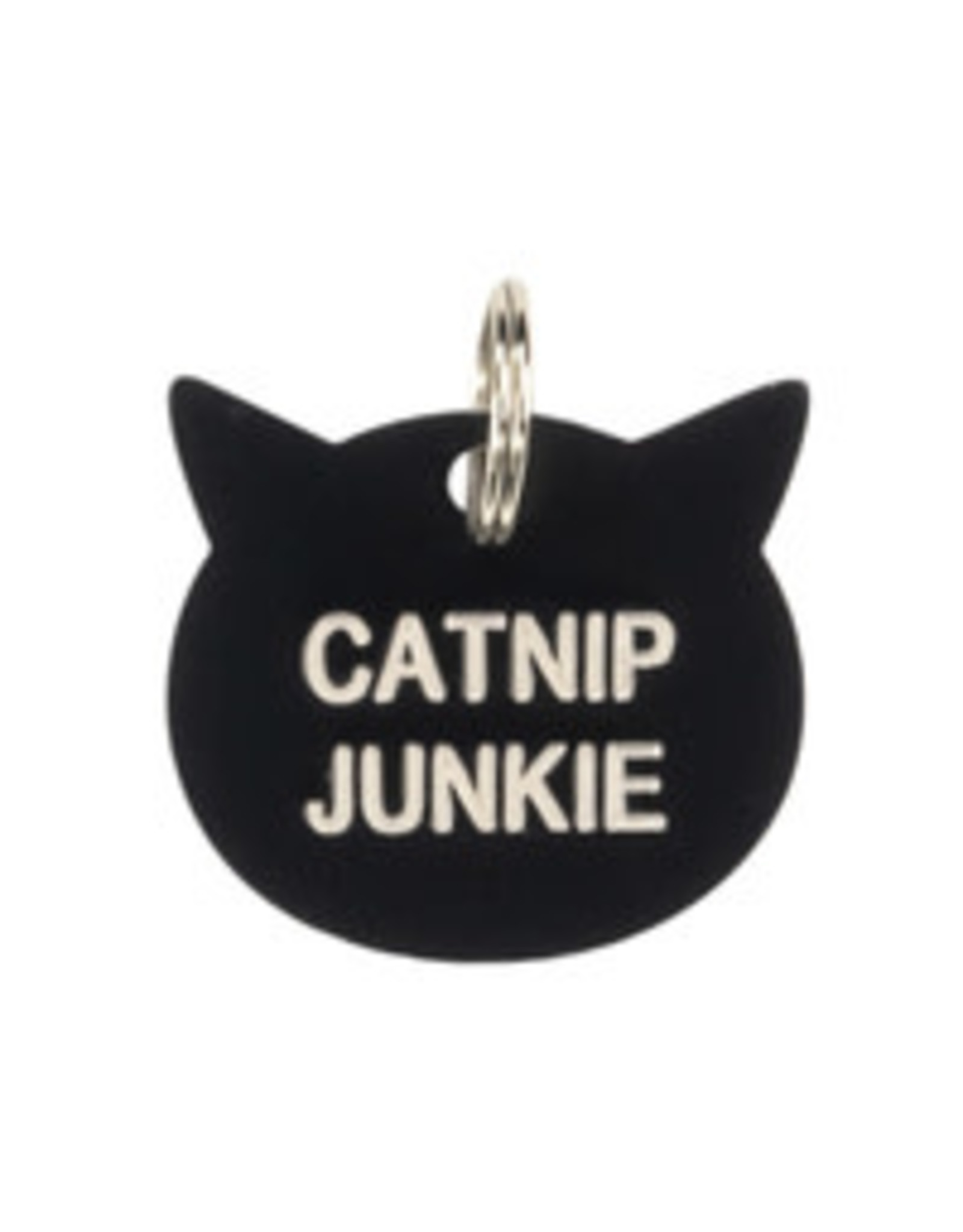 ABOUT FACE ABOUT FACE CATNIP JUNKIE CAT TAG