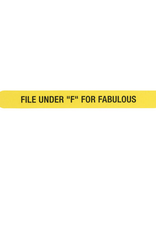 ABOUT FACE ABOUT FACE F FOR FABULOUS NAIL FILE