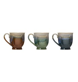 CREATIVE COOP COLORFUL TEA CUP WITH TEA BAG HOLDER