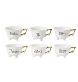 CREATIVE COOP SASSY TEA CUPS