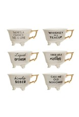 CREATIVE COOP SASSY TEA CUPS