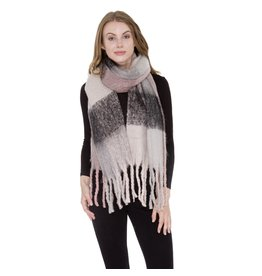 JTC JTC MUTED BLACK AND PINK OBLONG SCARF