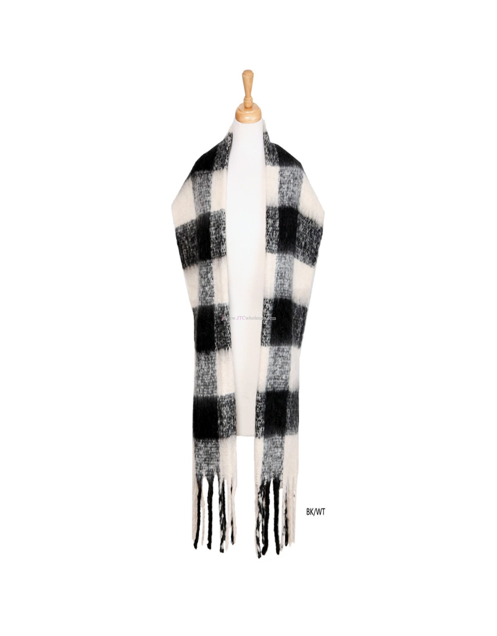 JTC JTC BLACK AND WHITE OBLONG SCARF