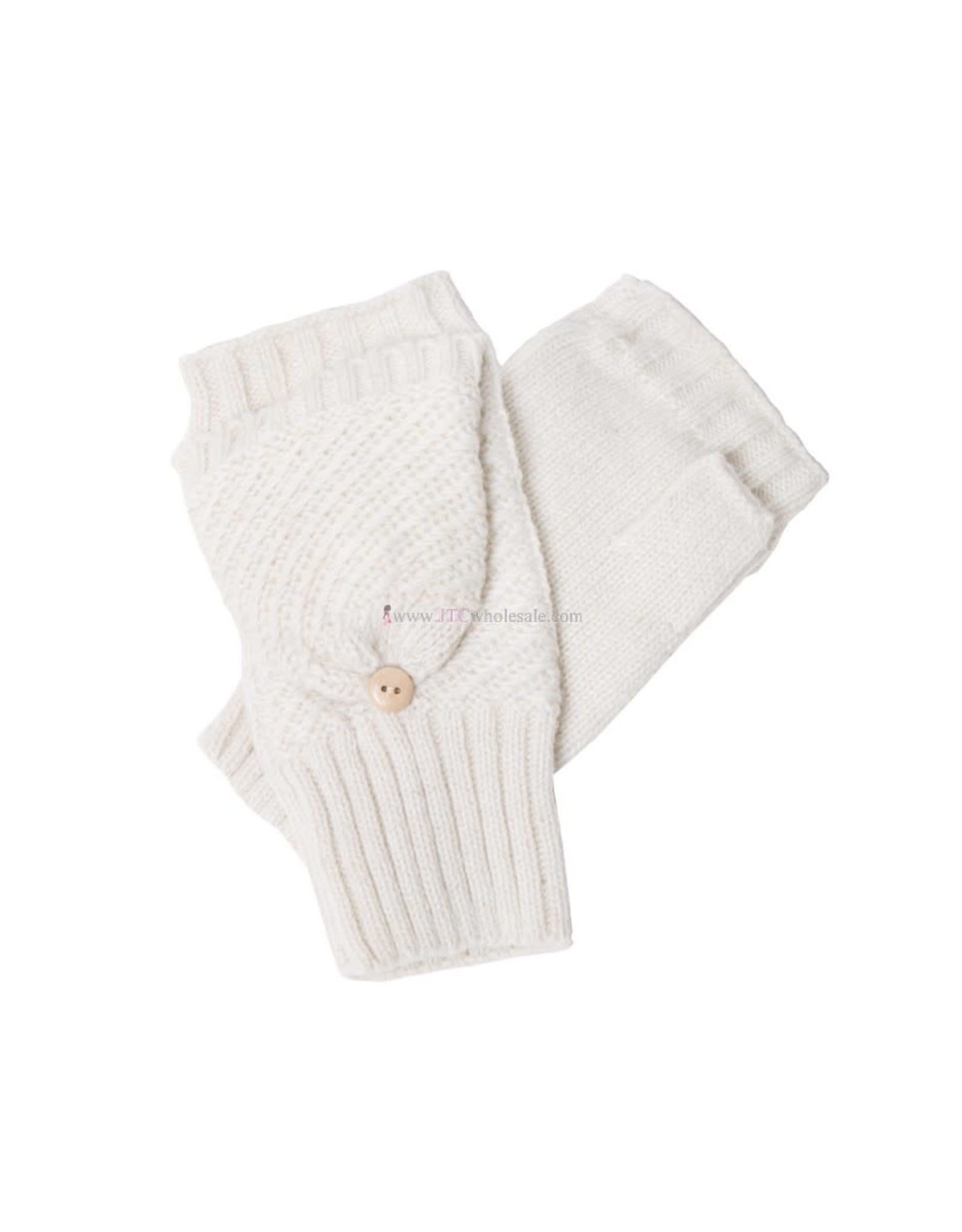 JTC JTC BUTTON MITTEN - WHITE