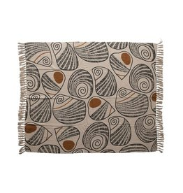 BLOOMINGVILLE BLOOMINGVILLE COTTON THROW WITH SWIRLING PATTERN