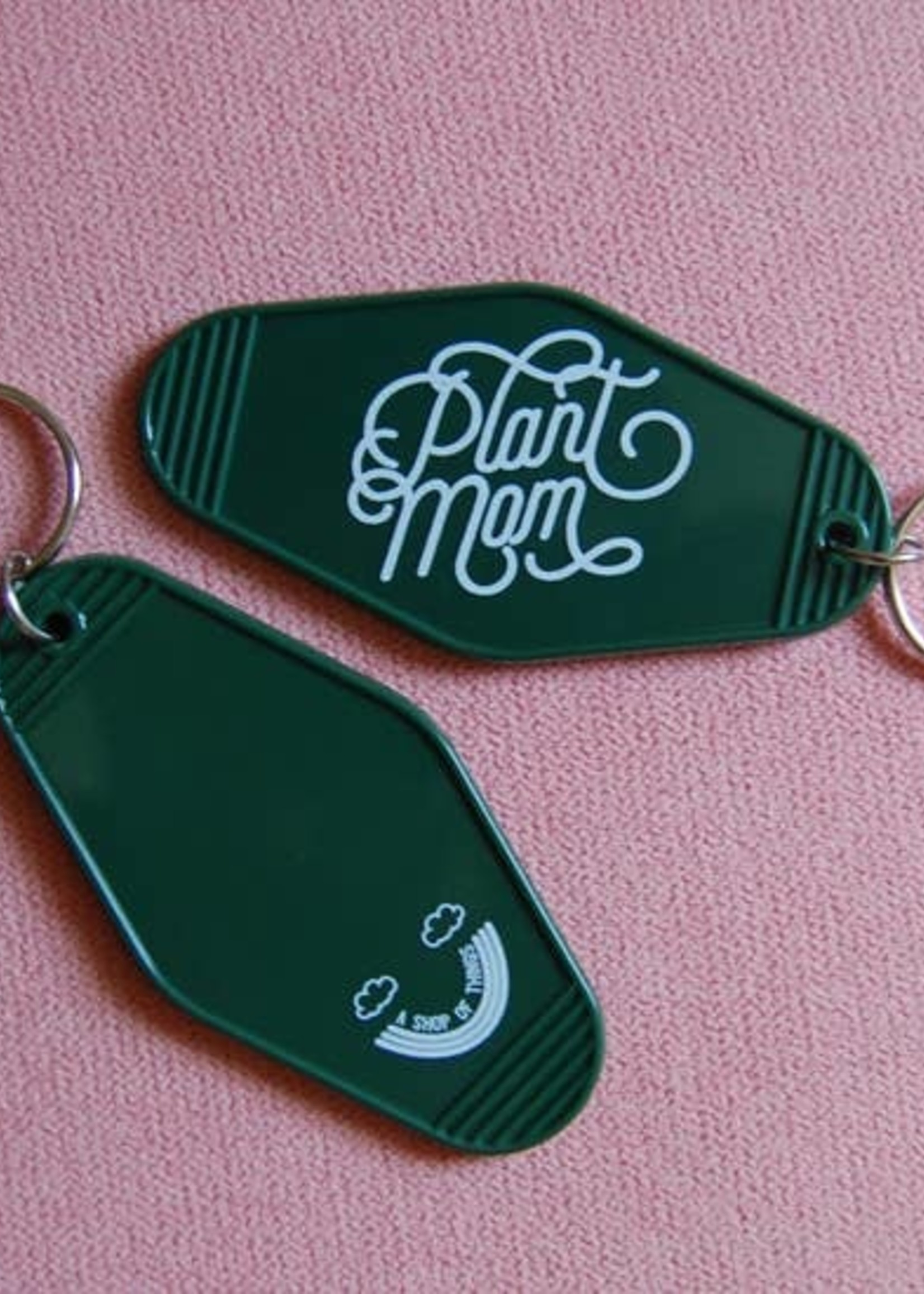 A SHOP OF THINGS PLANT MOM MOTEL KEYCHAIN