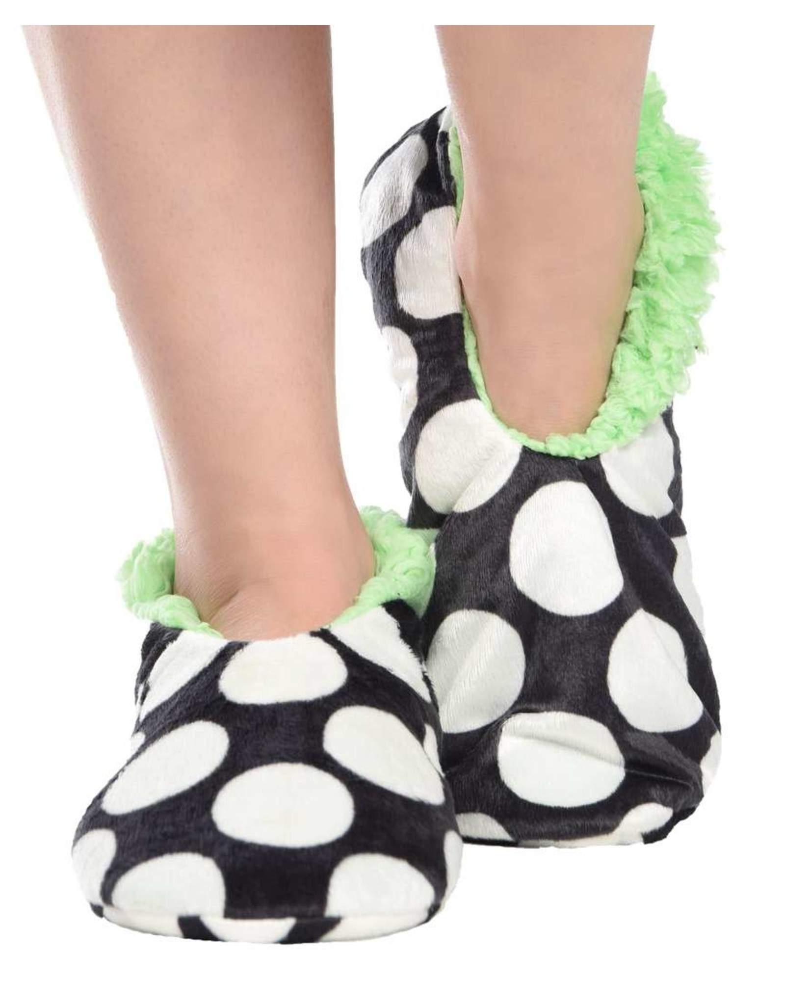 LAZY ONE LAZY ONE FUZZY FEET - POKA DOTS