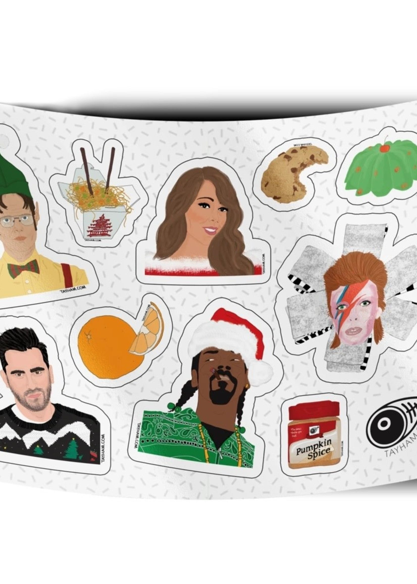 TAY HAM TAY HAM HOLIDAY STICKER SHEET