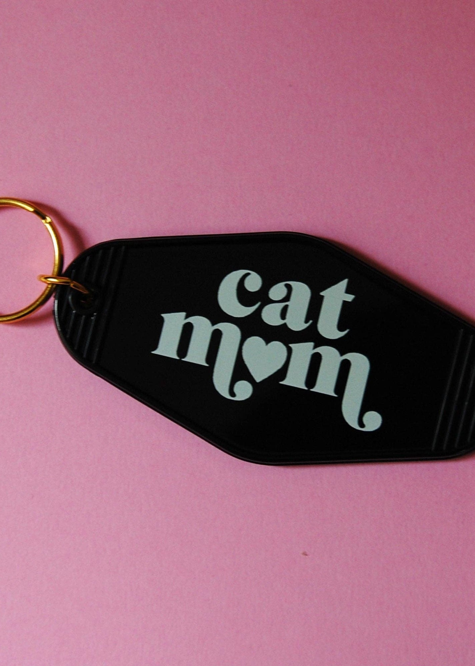A SHOP OF THINGS CAT MOM MOTEL KEYCHAIN