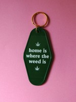 A SHOP OF THINGS WEED HOME MOTEL KEYCHAIN