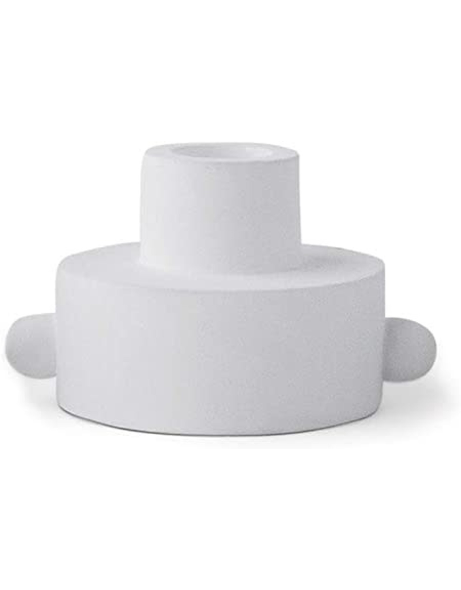 PADDYWAX PADDYWAX TAPER CANDLE HOLDER WITH KNOBS - LIGHT GREY