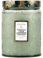 VOLUSPA VOLUSPA FRENCH CADE LAVENDER LARGE GLASS JAR