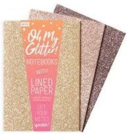 OOLY OOLY GLITTER NOTEBOOKS - GOLD & BRONZE