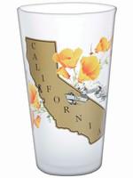 SF MERCANTILE SF MERCANTILE CALIFORNIA POPPY PINT GLASS