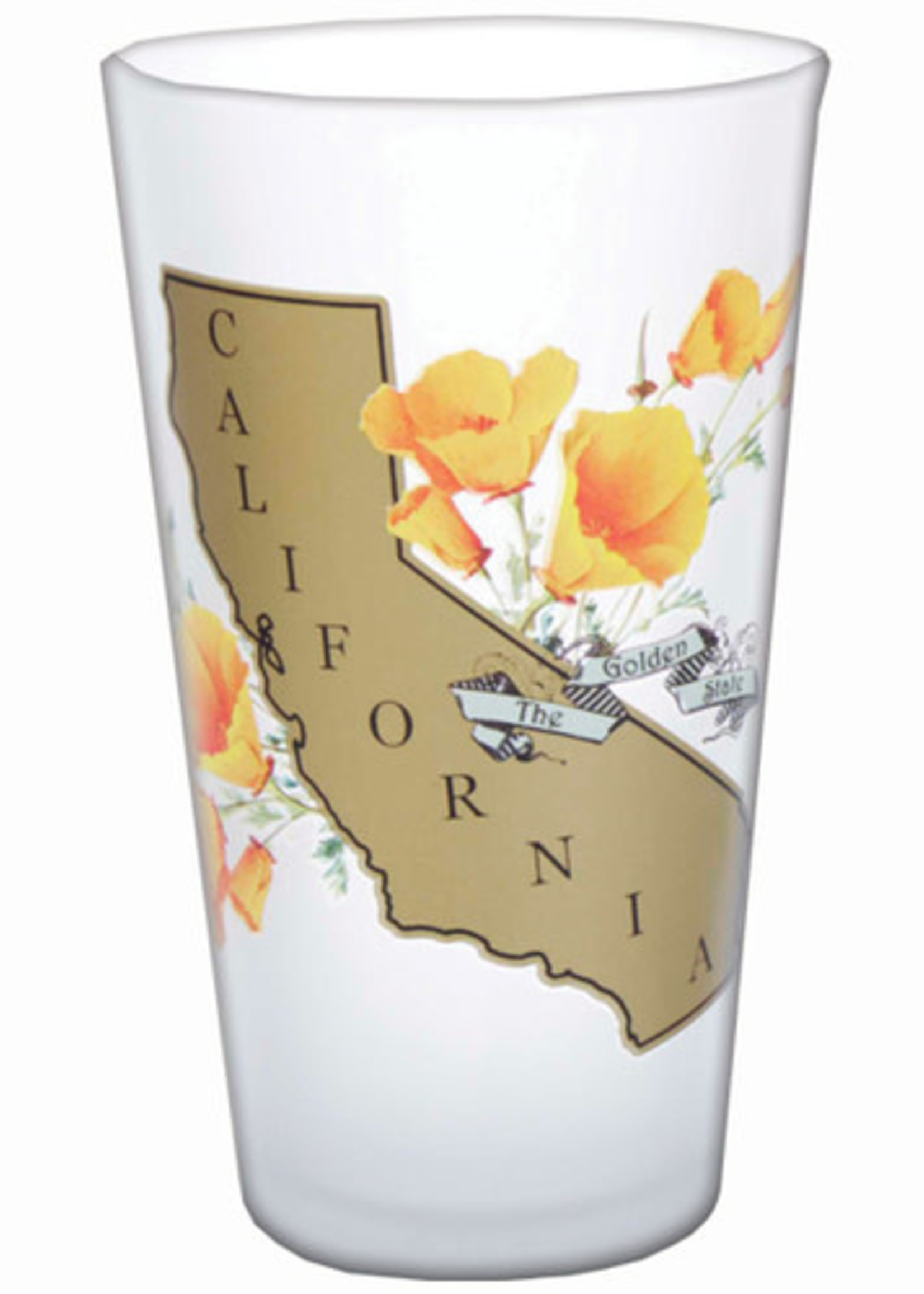 SF MERCANTILE SF MERCANTILE CALIFORNIA POPPY PINT GLASS
