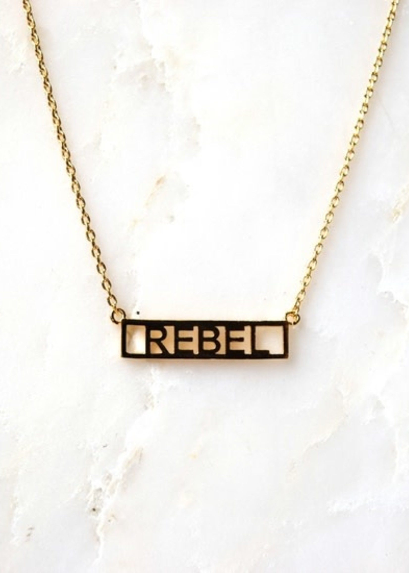 HE SAID SHE SAID HE SAID, SHE SAID NECKLACE - REBEL