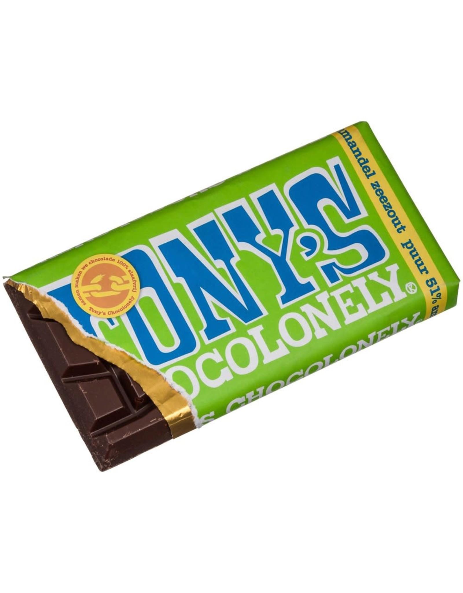 TONY'S CHOCOLONELY TONY'S DARK W/ALMOND SEA SALT BAR