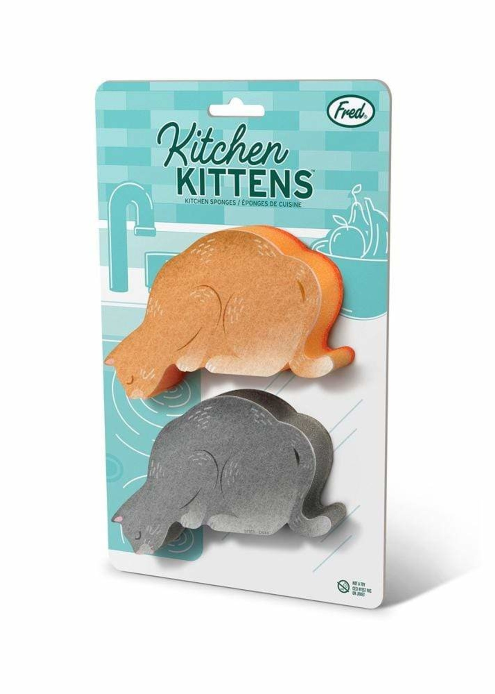 Fred & Friends FRED KITCHEN KITTENS SPONGES