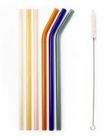 Kikkerland COLORED GLASS STRAWS