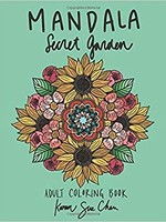 KAREN SUE STUDIOS MANDALA SECRET GARDEN COLORING BOOK