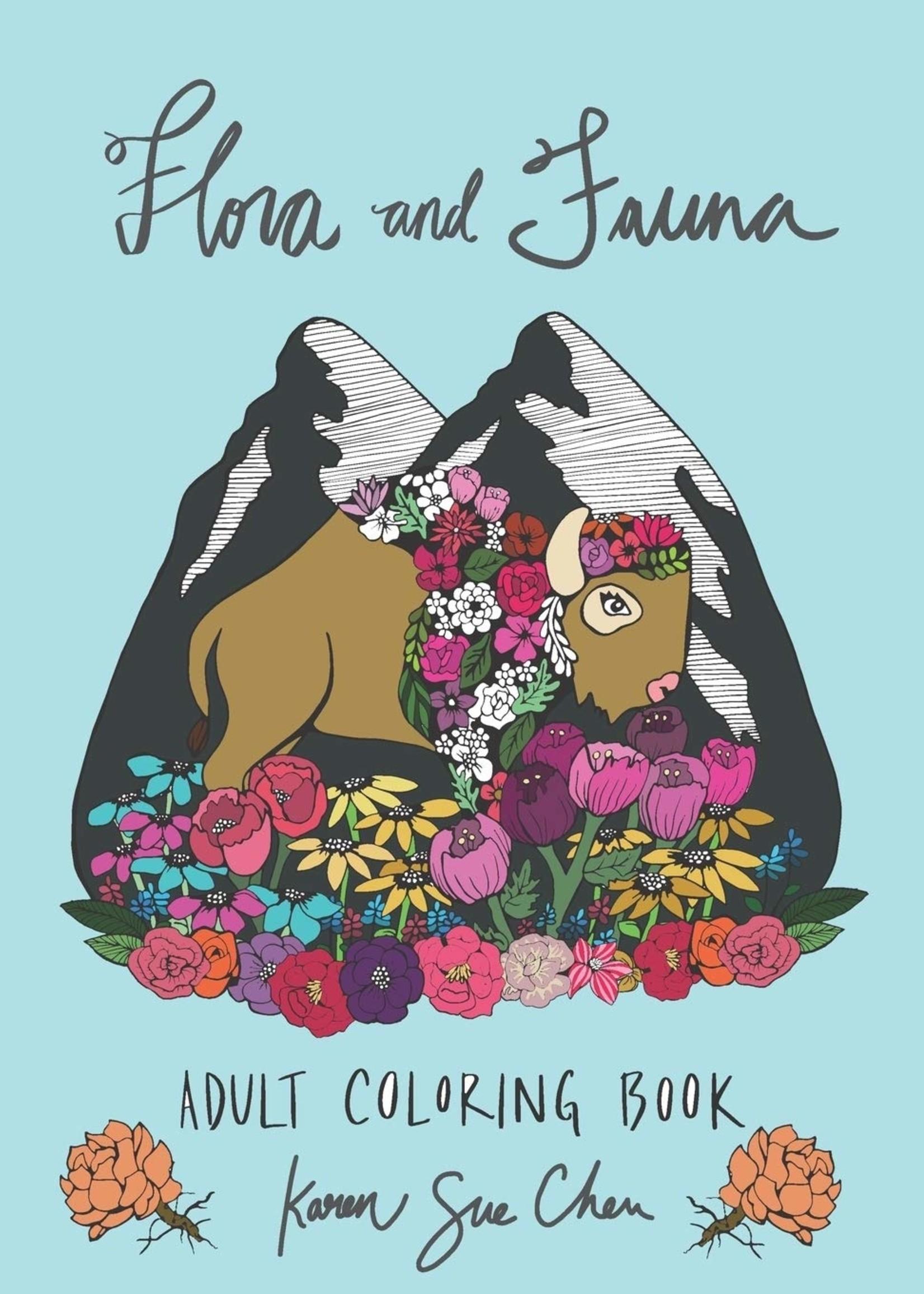 KAREN SUE STUDIOS FLORA AND FAUNA COLORING BOOK