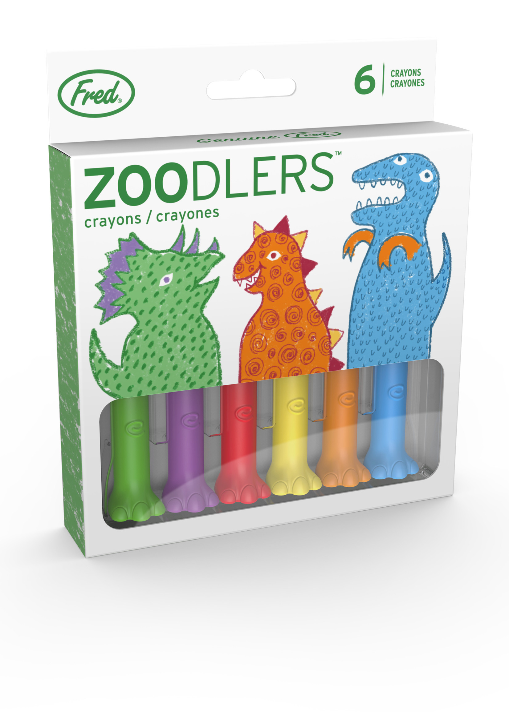 Fred & Friends FRED ZOODLERS DINO FOOT CRAYONS