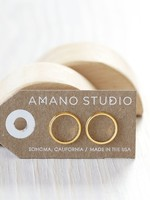 AMANO TRADING INC AMANOSTUDS  MODERN CIRCLE GOLD