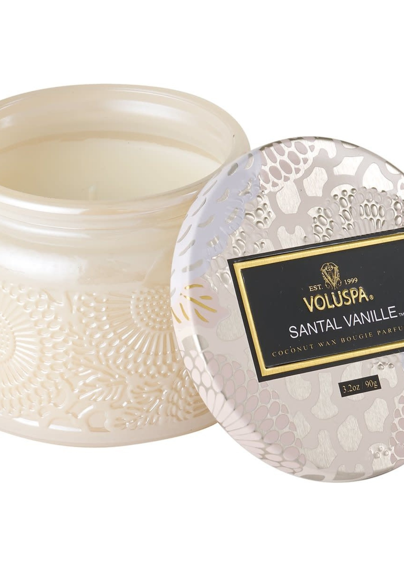 VOLUSPA VOLUSPA SMALL GLASS JAR SANTAL VANILLE
