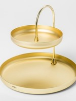 UMBRA POISE GOLD JEWELRY TRAY