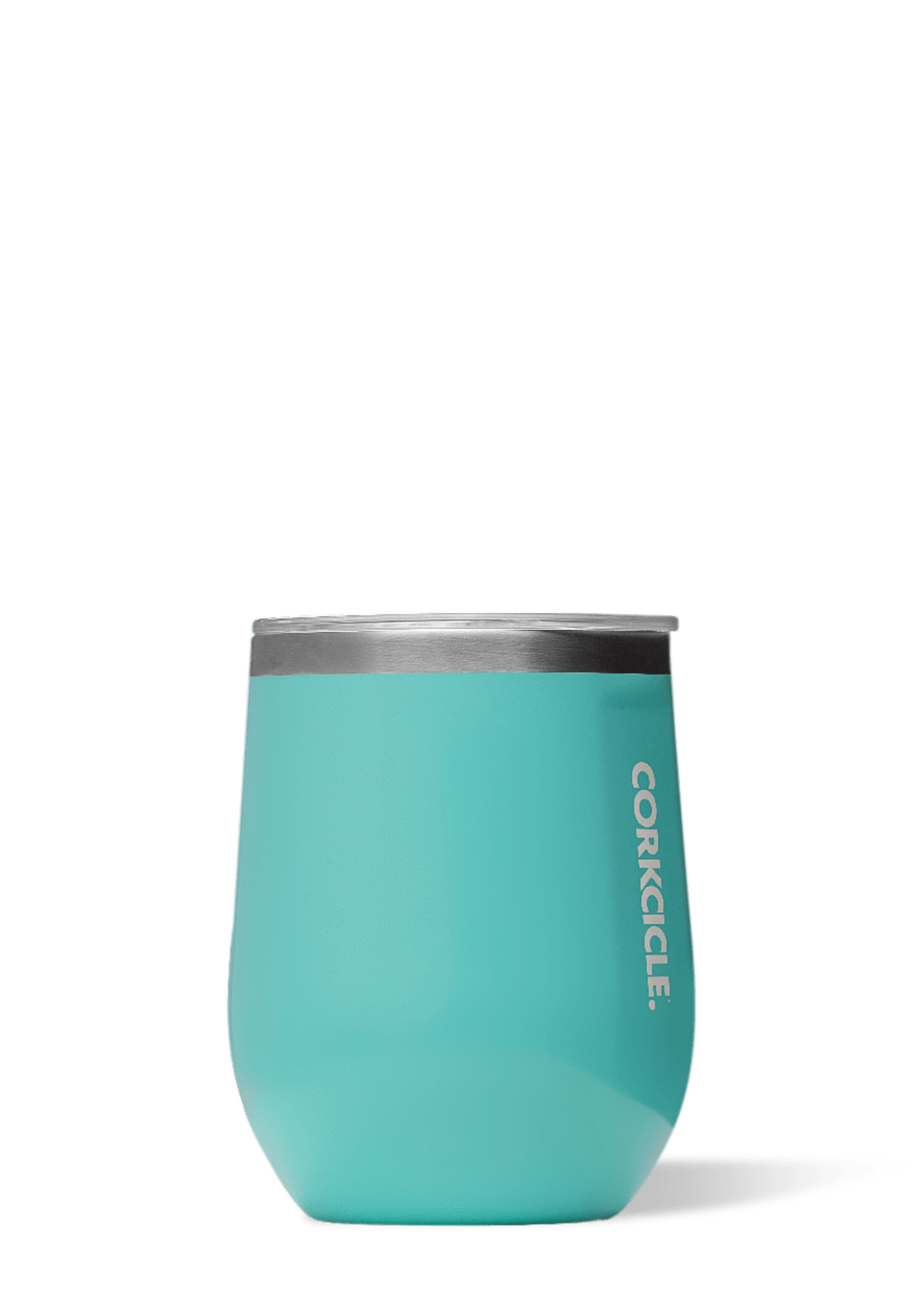 CORKCICLE CORKCICLE 12 OZ  STEMLESS TUMBLER - TURQUOISE