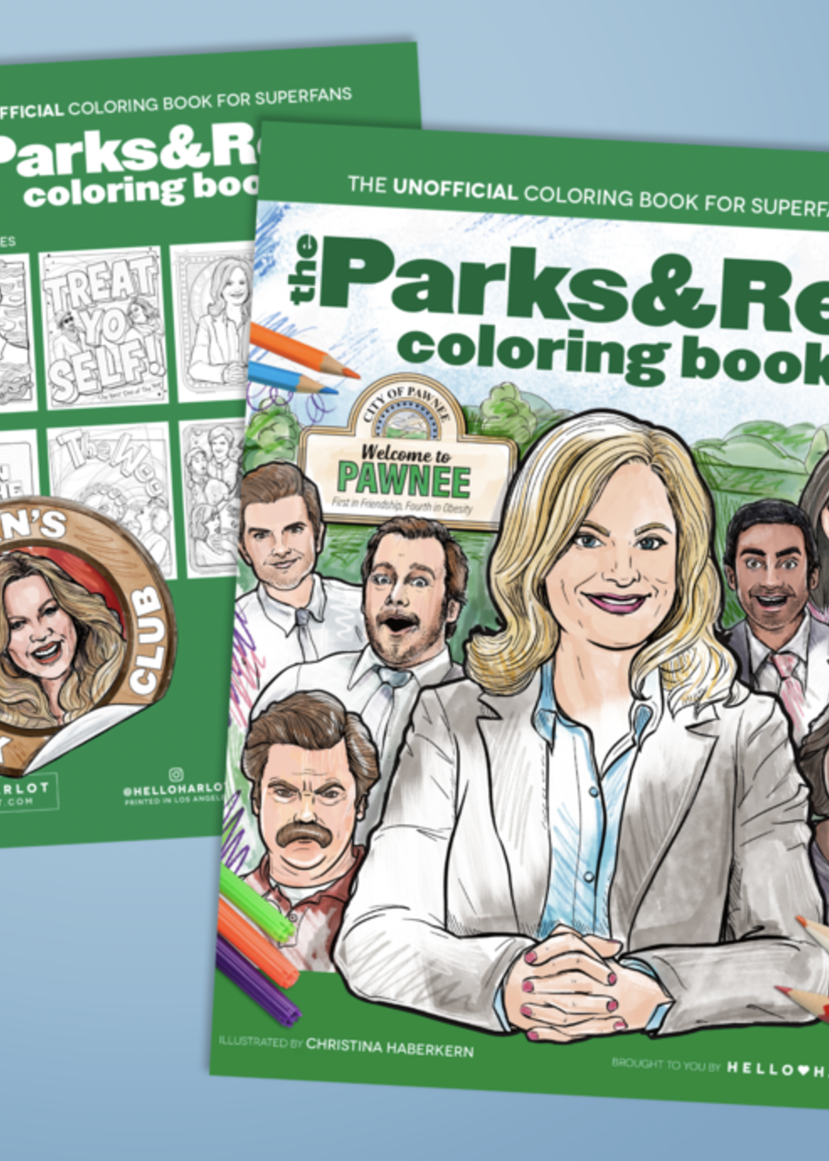 HELLO HARLOT HELLO HARL0T PARKS AND REC COLORING BOOK